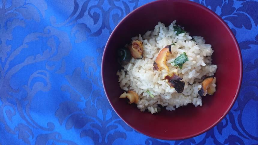 【おうちで加賀屋 #9】ご自宅でお料理を『サザエご飯』のレシピをご紹介